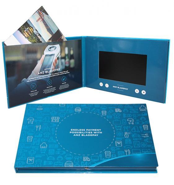 Cheap Digital Promotional LCD Video Brochure Card / Custom Video Brochure 7 Inch Tft Screen for sale