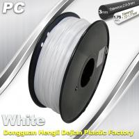 Cheap 1.75 / 3.0 mm PC Filament White for RepRap , Cubify 3D Printer Filament for sale