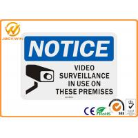 Best High Visibility Reflective Traffic Warning Signs Rectangle 24h Video Surveillance Sign wholesale