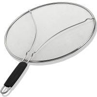 "Best 13"" Grease Splatter Screen for Cooking with Heavy Duty Ultra Fine Mesh Plus Silicone Hot Handle Holder wholesale"