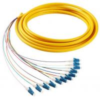 Best 12 cores LC/UPC SM 9/125 fiber optic bundle pigtail yellow LSZH  out jacket wholesale