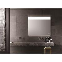 Buy cheap Customized LED Illuminated Demister Bathroom Mirror With Clock Waterproof from wholesalers