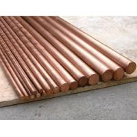 Best Flat Round Solid Copper Bars Raw Material , Solid Copper Rod Polished Surface wholesale