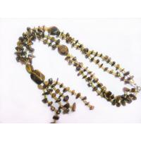 Best Irregular Beads Tiger Eye Stone Necklace Wholesale, Semi Precious Gem Jewelry wholesale