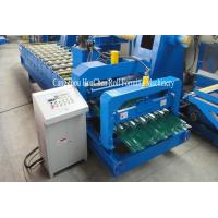 Cheap Hydraulic Shearing Glazed Corrugated Sheet Roll Forming Machine PLC Control for sale