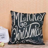 Best Multi Color Woven Pillow Cushion Covers Merry Christmas Word Printed wholesale