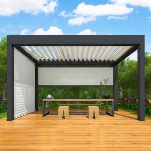 China Customized adjustable waterproof louvered roof motorized aluminium pergola on sale