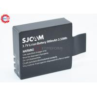 Best SJCAM Brand 900mAh Action Camera Battery Black Rechargeable Camera Batteries wholesale