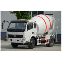 China Dongfeng Concrete Batch Truck , 4m3 Capacity Mobile Cement Mixer Trucks on sale