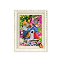 Best 30x40cm 5D Pictures With Plastic White Frame For Office Decoration wholesale
