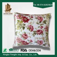 Best Home Decorative Pink Flower Printed PP Cotton / Foam Sofa Cushions Replacement wholesale