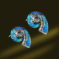 Best New Designed Hellenistic Opal Stud Earring with Spiral Shape (ESB2303) wholesale