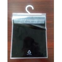 China Flat Printed PE Clear Self Adhesive Seal Plastic Bags Top Back Open With Hanger for Garment Packaging on sale