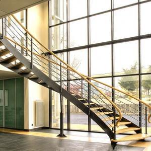 Best Arc Modern Wood Steel Round Staircase wholesale