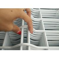 China White Vinyl Coated Welded Wire Fencing / Galvanised Welded Wire Mesh Panels on sale