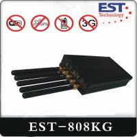 Best WIFI GPS Portable Cell Phone Jammer EST-808KG With Five Antenna , Black wholesale