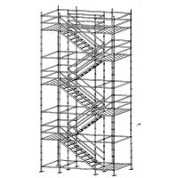 Quality Flexibility Built - In Ladder Kwikstage Scaffolding / Modular System Scaffold With Wedge Fixing wholesale