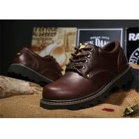 Best Non Slip Rubber Sole Work Safety Shoes Cowhide Leather Work Boots For Men / Women wholesale