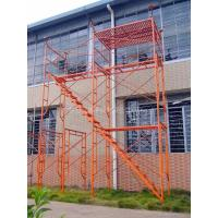 Best Painted Steel H Frame Scaffolding System , Professional Tower Scaffold wholesale