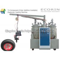 Quality 15KW High Efficient Intelligent Three Components Automatic Polyurethane Foam Machine For solid  PU wheel and tire wholesale