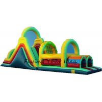 Best PVC Tarpaulin Inflatable Castle Bouncer , Custom Inflatable Obstacle wholesale