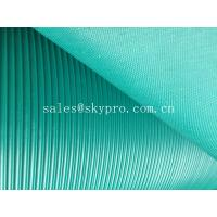 Best Corrugated anti - skid rubber sheet roll with lined grooves on top wholesale