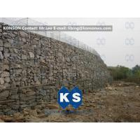 Best Twisted Hexagonal Hot-Dip Galvanized Gabion Retaining Wall , Plastic Coated Woven Gabion Mattress wholesale