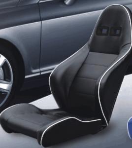 Best Unadjustable Durable PVC Sport Racing Seats Pair + Slider 1 Year Warranty wholesale