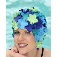 Cheap Original Flower Swim Cap- Old Fashioned Retro Petal Cap - Marine Melody for sale
