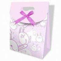 Best Eco Friendly Pink Transfer Printing Custom Printed Gift Bags for Shopping wholesale