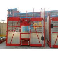 Best 60m Single Cage Construction Material Hoist , Steel Galvanized Material wholesale