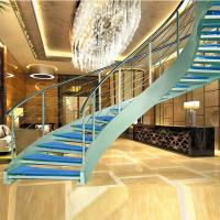 Best Luxury curved glass staircase for sale wholesale