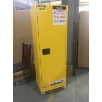 Best Yellow Industrial Safety Cabinets , Flame Proof Storage Cabinets With Double Lock with wheel wholesale