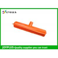 Best Orange Color Garden Cleaning Tools Rubber Broom Head Durable HG0610-H wholesale