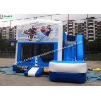 Best 6 in 1 Wet And Dry Slide Inflatable Combo With Theme Panels For Children wholesale