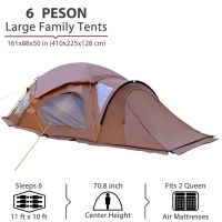 Best Double Layer Breathable 190T Polyester Pop Up Camping Tent wholesale