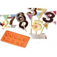 Best Number Shaped LFGB Standard Silicone Candy Molds Baking Tools wholesale