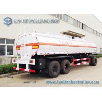 Best High Performance 20000L 3 Axle Train Oil Tank Trailer With Ellipse Shaped wholesale