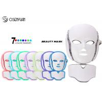 Best EMS Microcurrent Photon Led Facial Mask , Led Light Therapy Mask For Face Neck wholesale