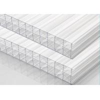 Best Multiwall Clear Polycarbonate Sheet X Structure 25% - 92% Light Transmission wholesale