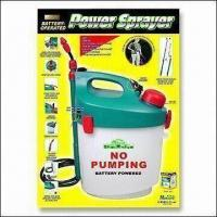 Battery-powered Garden Sprayer with Shoulder Strap and Extendable Wand