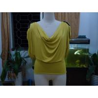 Best Cosy Mustard Womens Fashion Tops Plus Size Drape Neck Tops With Sleeves wholesale