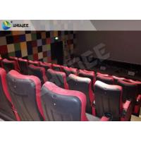 Best Red / Black 4D Movie Theater , 4D Motion Seat Is Main Technology For Cinema Hall wholesale