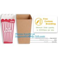 China Quality-assured Professional Made Striped Popcorn Boxes,offset printing or flexo printing popcorn bucket/paper box pack on sale