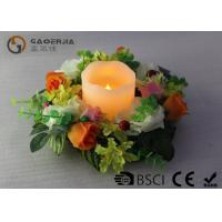 Best Flameless Advent Pillar Candles , Led Remote Control Candles Dripping Finish wholesale