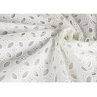 China Heavy Vintage Eyelet 100% Cotton Lace Fabric Wholesale By The Yard on sale
