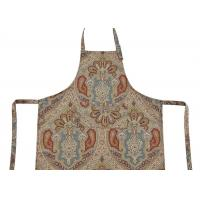 Best Bib Type Flower Printed Cotton Canvas Material Women Kitchen Apron With Front Pocket wholesale