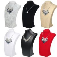 Best 24*14.5cm Necklace Display Bust , Linen Ice Velvet Jewelry Necklace Holder wholesale