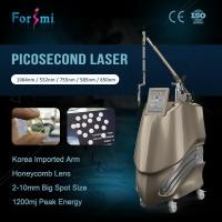 Buy cheap Professional Q Switch ND Yag Picosecond 600ps laser tattoo removal machine with Medical CE certification from wholesalers