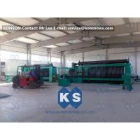 Best Twisting Metal Wire Hexagonal Gabion Mesh Weaving Machine , 4300mm Double Rack Drive wholesale
